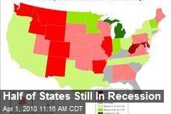 Half of States Still In Recession