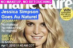 Jessica Simpson Goes Au Naturel
