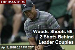 Woods Shoots 68, 2 Shots Behind Leader Couples