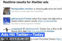 Ads Hit Twitter—Today