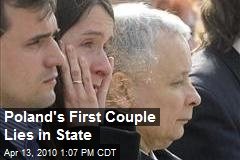 Poland's First Couple Lies in State