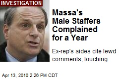 Massa's Male Staffers Complained for a Year