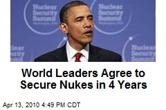 World Leaders Agree to Secure Nukes in 4 Years