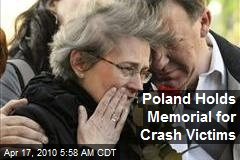 Poland Holds Memorial for Crash Victims