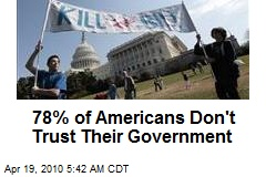 78% of Americans Don't Trust Their Government
