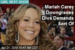 Mariah Carey Downgrades Diva Demands ... Sort Of