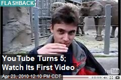 YouTube Turns 5; Watch Its First Video
