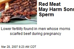 Red Meat May Harm Sons' Sperm
