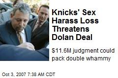 Knicks' Sex Harass Loss Threatens Dolan Deal