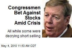 Congressmen Bet Against Stocks Amid Crisis