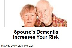 Alzheimer Spouses More Likely to Develop Dementia