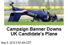 UK Candidate's Banner Crashes Plane