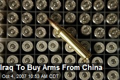 Iraq To Buy Arms From China