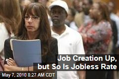 Job Creation Up, but So Is Jobless Rate