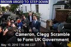 Cameron, Clegg Scramble to Form UK Government