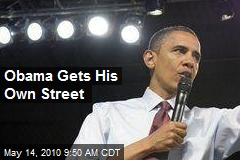Obama Gets His Own Street