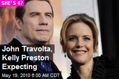 John Travolta, Kelly Preston Expecting