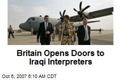 Britain Opens Doors to Iraqi Interpreters