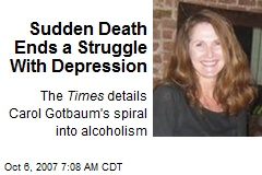 Sudden Death Ends a Struggle With Depression