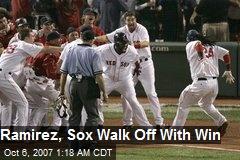 Ramirez, Sox Walk Off With Win