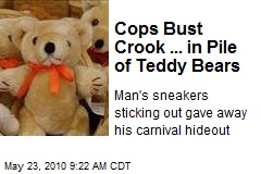 Cops Bust Crook ... in Pile of Teddy Bears