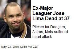 Ex-Major Leaguer Jose Lima Dead at 37