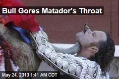 Bull Gores Matador's Throat