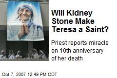 Will Kidney Stone Make Teresa a Saint?