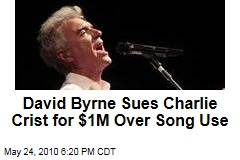 David Byrne Sues Charlie Crist for $1M Over Song Use