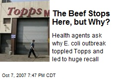The Beef Stops Here, but Why?