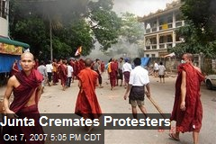 Junta Cremates Protesters