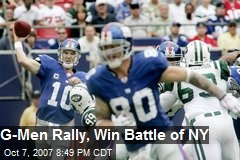G-Men Rally, Win Battle of NY