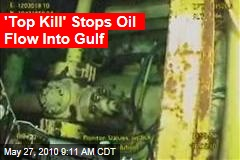 'Top Kill' Stops Oil Flow Into Gulf