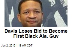 Davis Loses Bid to Become First Black Ala. Gov.
