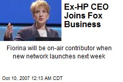 Ex-HP CEO Joins Fox Business