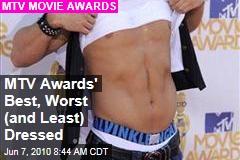 MTV Awards' Best, Worst (and Least) Dressed