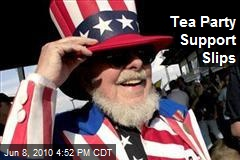 Tea Party Support Slips