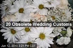 20 Obsolete Wedding Customs