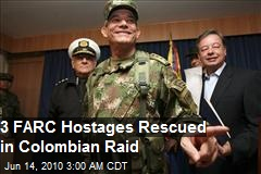 Colombian Farc hostages rescued
