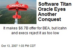 Software Titan Oracle Eyes Another Conquest
