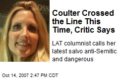 Coulter Crossed the Line This Time, Critic Says