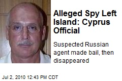 Alleged Spy Left Island: Cyprus Official