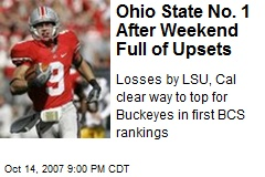 Ohio State No. 1 After Weekend Full of Upsets