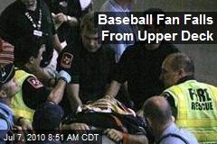 Baseball Fan Falls From Upper Deck