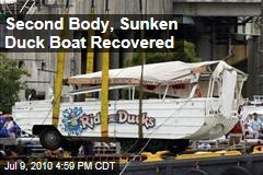 Second Body, Sunken Duck Boat Recovered