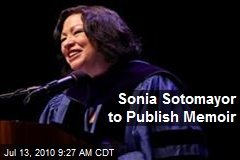 Sonia Sotomayor to Publish Memoir