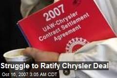 Struggle to Ratify Chrysler Deal