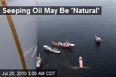 Seeping Oil May Be 'Natural'
