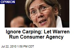 Elizabeth Warren Must Run the CPFA