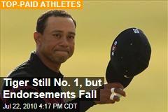 Tiger Still No. 1, but Endorsements Fall